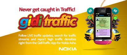 GidiTraffic App for Nokia Asha